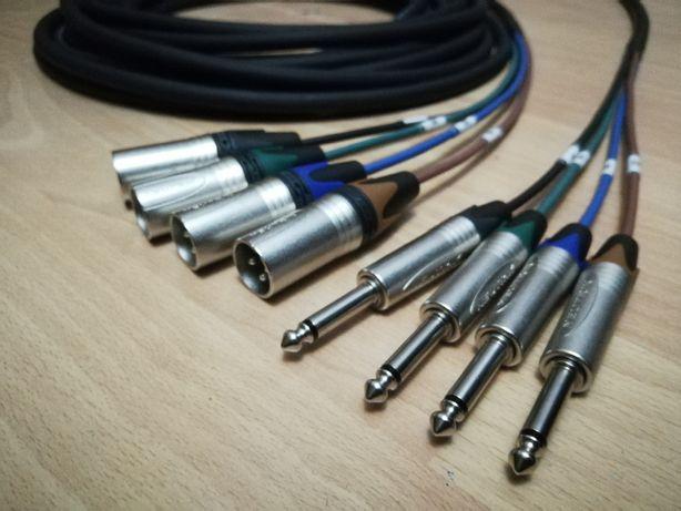 Kabel xlr multocore 4x JACK - XLR Neutrik Pyta audio kabel do klawiszy