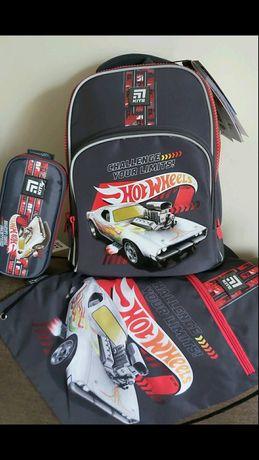 Набор рюкзак kite hot wheels,  трансформеры 1-4 класс