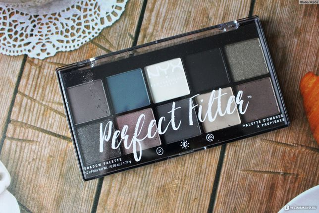 Палетка теней NYX оригинал Perfect Filter Shadow Palette gloomy days