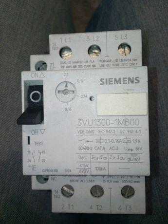 Siemens, wyłącznik silnikowy 3VU1300-1MB00, zakres 0,1-0,16A