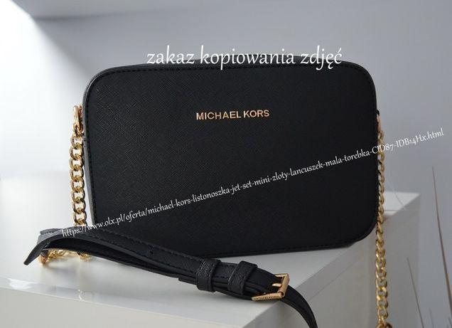 Michael KORS listonoszka JET SET mini złoty łańcuszek mała torebka