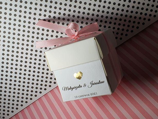 Pudełeczka na podziękowania dla gości wesele