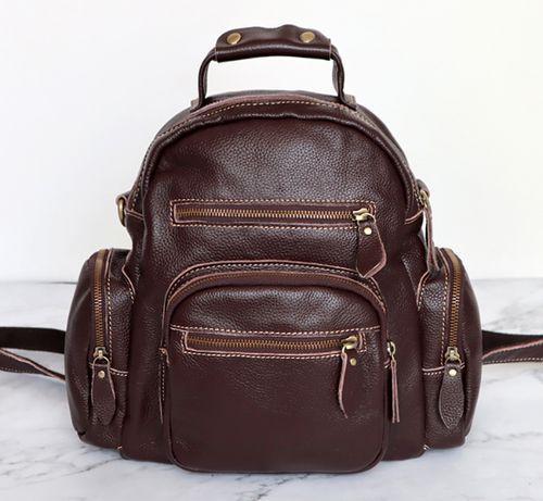 Рюкзак женский реальная натуральная кожа, сумка рюкзак 2 цвета.