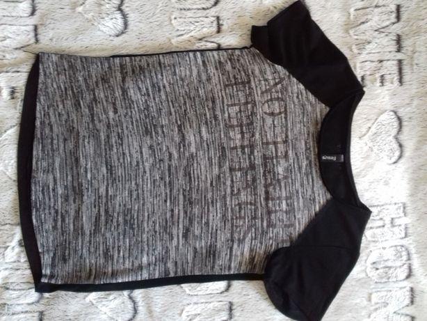 Szara bluzka paski Sinsay XS