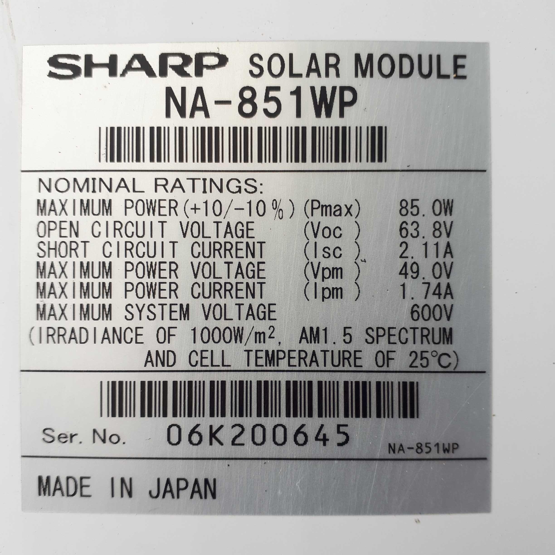 Panele fotowoltaiczne SHARP NA-851WP NA851WP 18szt.