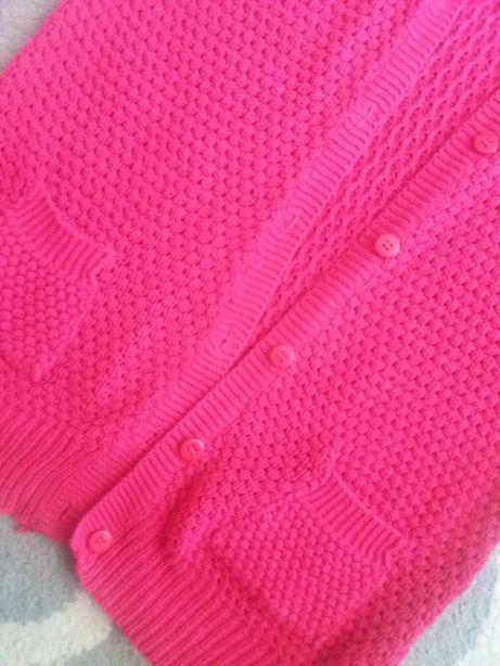 Sliczny malinowy swetr r.S