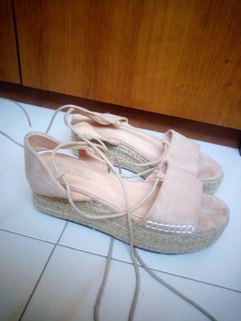 Sandálias verão tom rosa