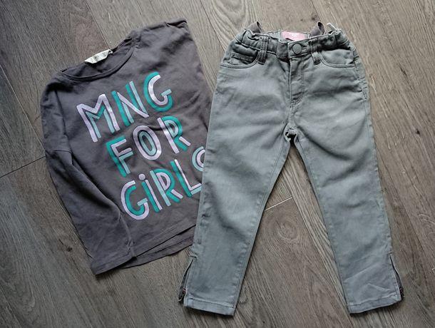 Spodnie rurki, bluzka mango, r. 104