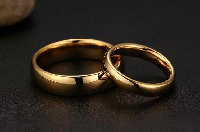 Alianças de casamento em tungstênio - modelo clássico - Novas