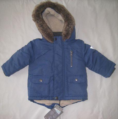 6-9meses Menino, Outono/Inverno - sobretudo e camisola de malha