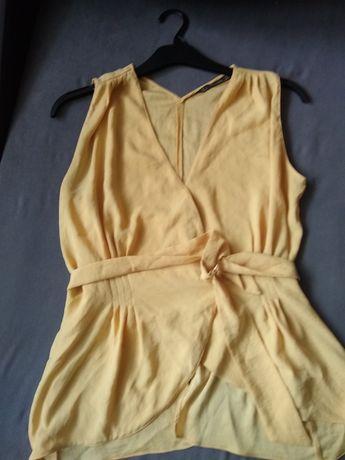 Koszula Zara S żółta lato na ramiączka