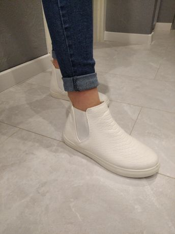 Buty damskie wiosenne 38 białe