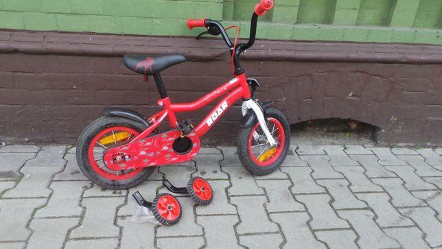 Rower dziecięcy Terrian ROAR 12 cali 4 kółka Dino