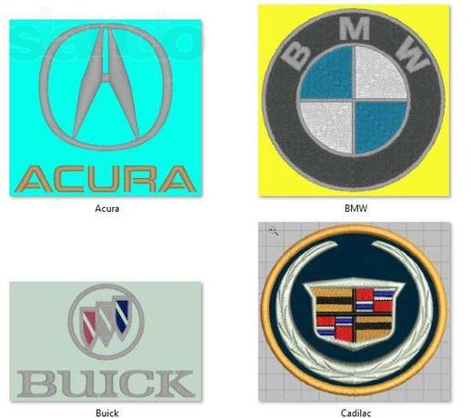 Вишивка авто логотипів