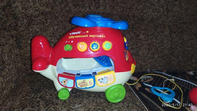 Музыкальная развивающая детская игрушка обучающий вертолет VTech