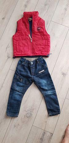 джинсы и безрукавка на 2-3 года