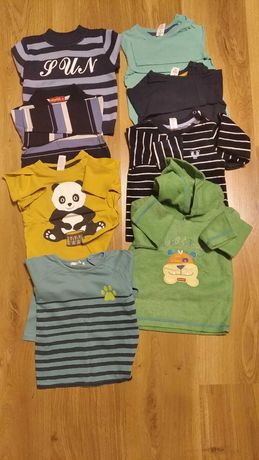 Paka ubranek 80/86, bluzki , bluzy , spodnie