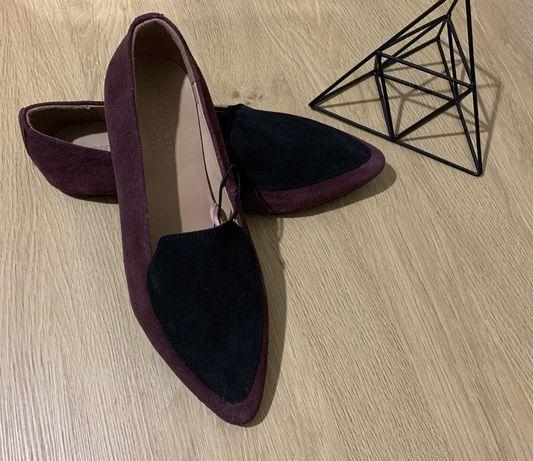 Лоферы Esmara, туфли женские кожаные, мокасины, балетки