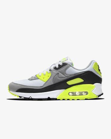 Nike AIR MAX 90 White/ particle grey- volt-black 38