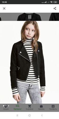 Куртка замшевая H&M 1000руб