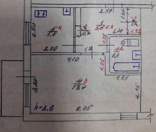 Продается жилая 1-комнатная квартира в районе ПЛМС