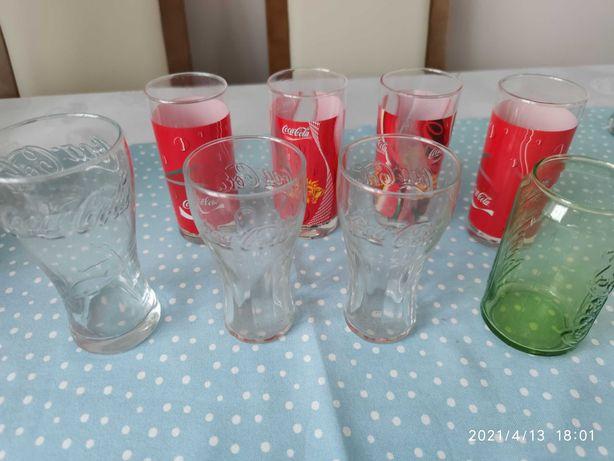 Kolekcja szklanki Coca Cola 8 szt. stan idealny jak nowe