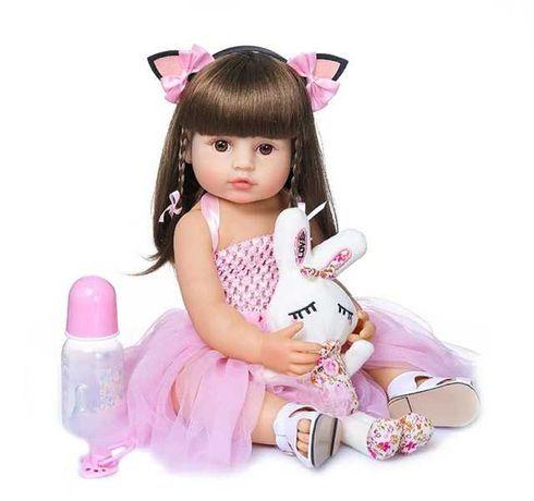 Кукла реборн девочка, полностью силиконовая 55 см