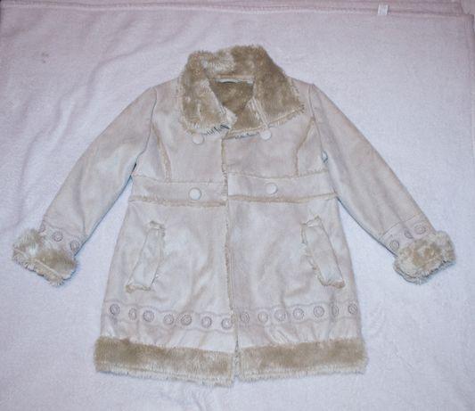 Деми дубленка пальто девочке от C&A