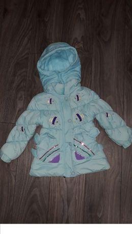 Куртка деми на девочку 2-3года шапка в подарок