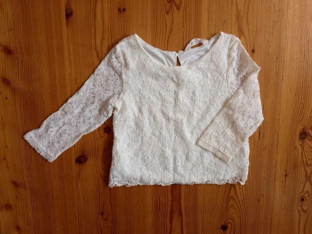 H&M 146 bluzka długi rękaw elegancka jak nowa