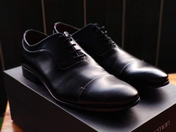 Obuwie oksfordy Recman A059 czarny rozmiar 41 (42/43)