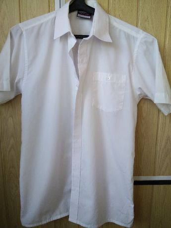 Качественная белая рубашка с коротким рукавом тенниска для мальчика