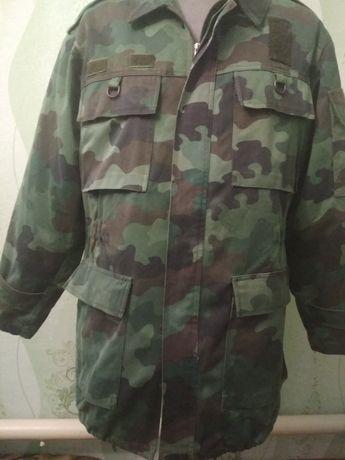 Камуфляжная куртка-парка