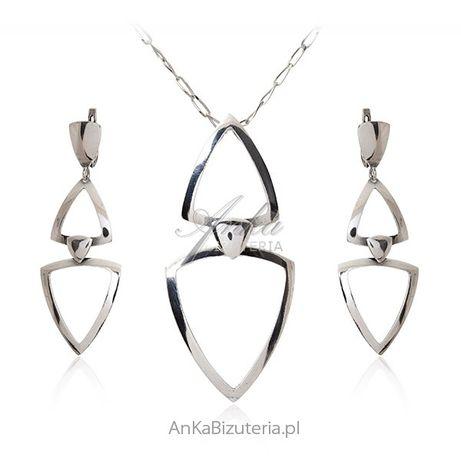 ankabizuteria.pl perły naszyjnik Srebrny komplet biżuteria srebrna