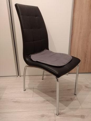 Krzeslo wysokie skóropodobne