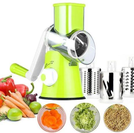 Овощерезка Kitchen Master зеленая, овочерізка
