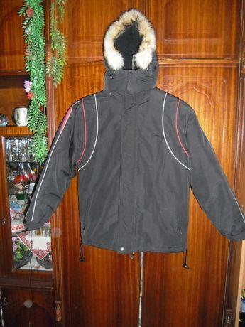 Куртка зимова з капюшоном(Wolf)-L розмір---на хлопчика віком11-14років