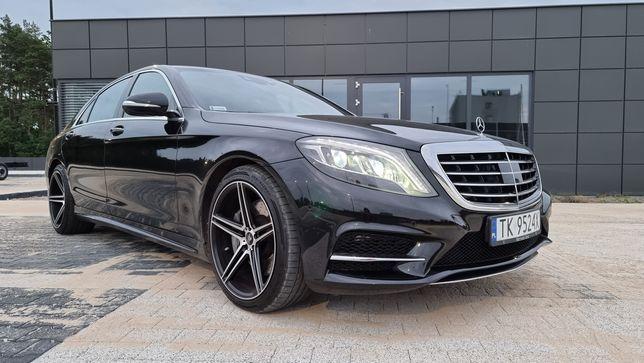 ochód do ślubu Auto Mercedes S Wynajem Wesele przyjęcia Limuzyna