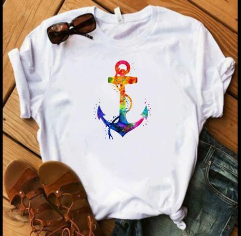 Koszulka bluzka t-shirt kotwica marynarska S-XXL