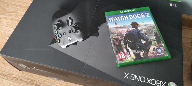 Xbox one X + kontroler + gra