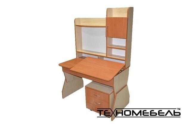 Детская парта - письменный стол с тумбой от 3-х до 18 лет