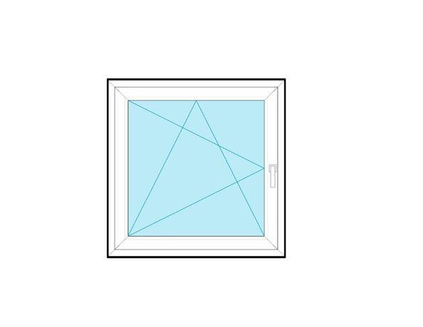 Okno PCV 146,5x146,5 150x150 białe RU na wymiar cała Polska