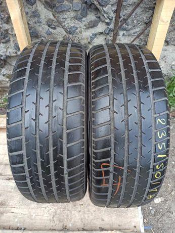 Michelin 235/55r17 2 шт пара лето резина шины б/у слад