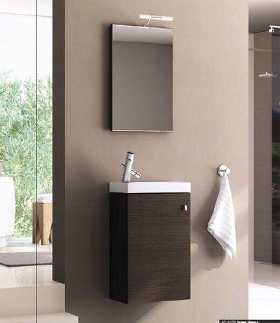 Тумбочка умывальник зеркало лампа набор для ванной умивальник набір