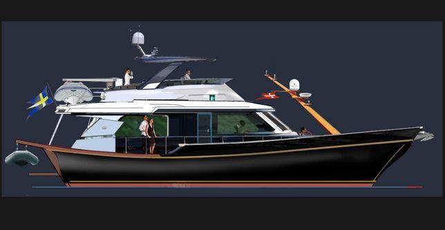 Для Чартера и семейного отдыха-16 метров моторная яхта