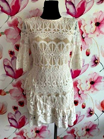 in the style sukienka mini koronkowa jak nowa hit roz.36