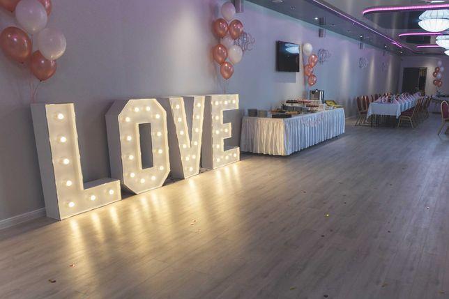 Napis LOVE / litery LOVE ślub, zaręczyny, imprezy, wesele