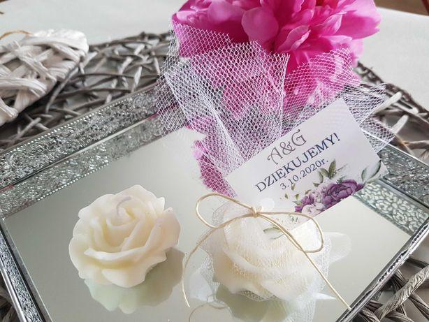 Świeczka zapachowa podziękowanie dla gości świeca prezent