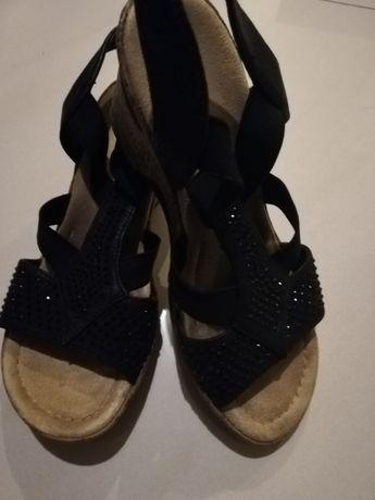 Buty sandały na koturnie rozmiar 37