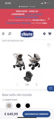 Carrinho de bebe chicco